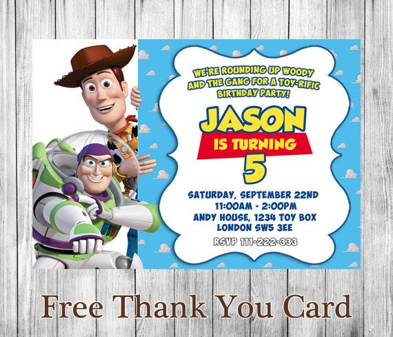 Toy Story Invitation - Toy Story anniversaire Invitation - Toy Story imprimable - anniversaire Invitation - TS03