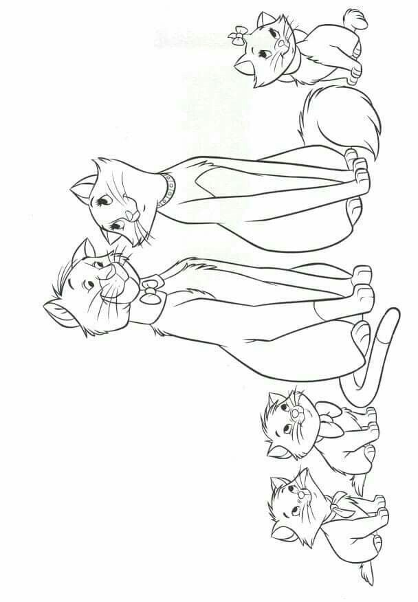 Pin By Ligia Feliciano On Aristocats Disney Coloring Pages Cartoon Coloring Pages Cute Coloring Pages