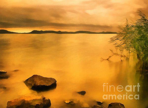 Lake Balaton Sunset Paint