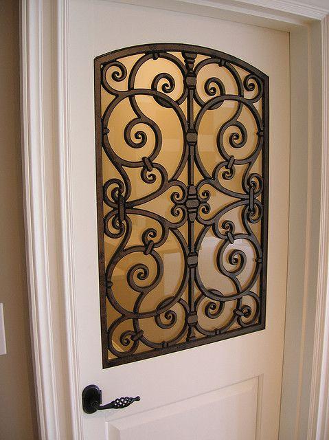 Faux Wrought Iron Decorative Door Insert