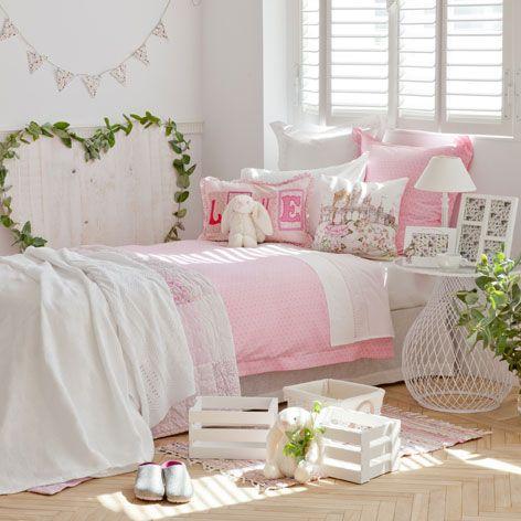 S banas y fundas franela flores rosas kids room pinterest - Zara home portugal ...