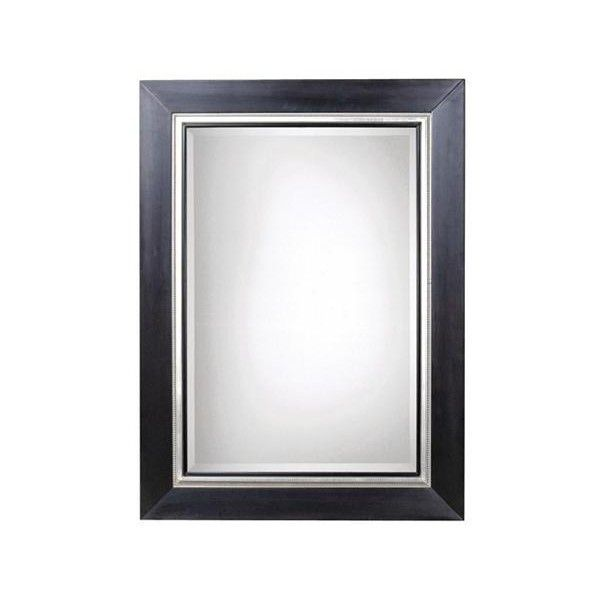 Uttermost Whitmore 54 X 40 Black Silver Leaf Large Mirror 317 Liked On Polyvore Featuring Home Home Mirror Wall Mirror Wall Bedroom Antique Mirror Wall Black and silver mirror