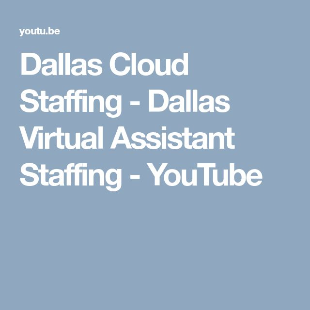Dallas Cloud Staffing - Dallas Virtual Assistant Staffing - YouTube
