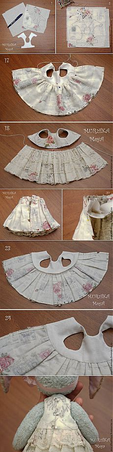 Nós costurar um vestido para um brinquedo no estilo de peluche - Mestrado Fair - handmade, handmade
