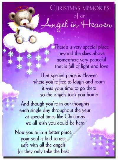Missing Mom Quotes: Details About Christmas Grave Card
