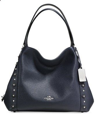 COACH EDIE SHOULDER BAG 31 IN FLORAL RIVETS LEATHER - Handbags Accessories - Macys