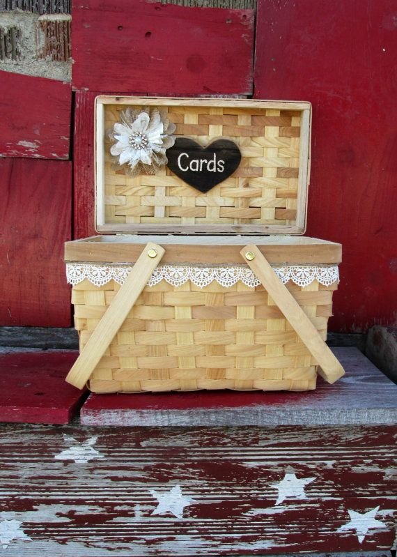 Wedding Card Box  Card Holder  Rustic by MyMontanaHomestead