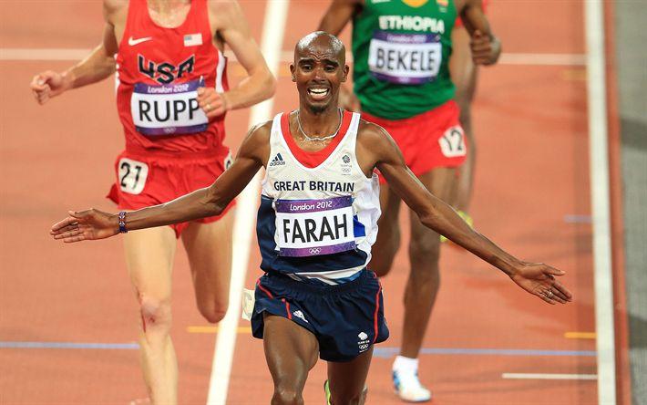 Herunterladen hintergrundbild mo farah, 4k, britische athlet, mohamed farah, läufer