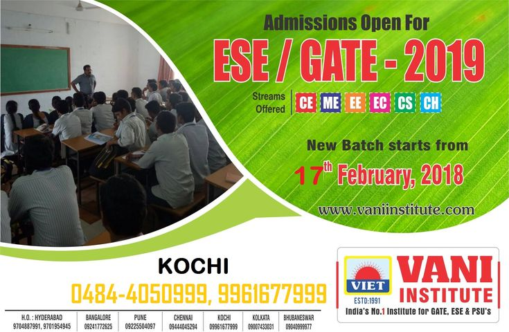 GATE coaching center in kerala - Admission open for 2019 & 2020 batches #GATE  #GATEcoaching #Engineering  #IES #PSU