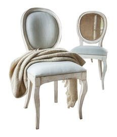 Grange Medaillon Side Chairs  Traditional, Transitional, Upholstery  Fabric, Dining Chair by Boston Design Center Bdc