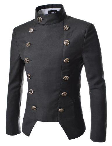 TheLees (NJK4) Manns leger doppelt Breasted High neck Slim fit Short Blazer Jacke DUNKELGRAU Large(EU 50) TheLees http://www.amazon.de/dp/B00F8EFCIS/ref=cm_sw_r_pi_dp_Q550tb0Q464W68CE