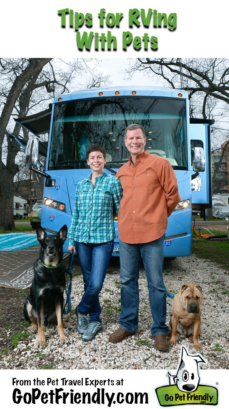 Tips for RVing with Pets from the Pet Travel Experts at GoPetFriendly.com