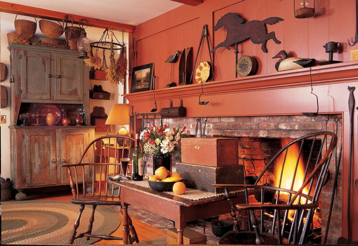 15 must see colonial decorating pins colonial primitive fireplace and early american decorating - Colonial home decorating concept ...