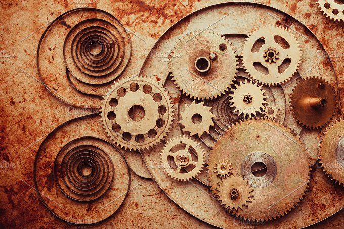 The Steampunk background by oksix on @creativemarket