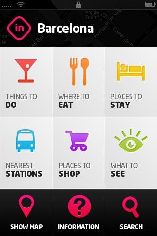 location app clean UI