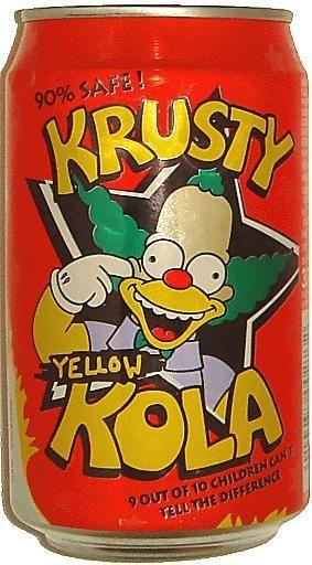 Description: YELLOW KOLA / THE SIMPSONS: KRUSTY / 90% SAFE