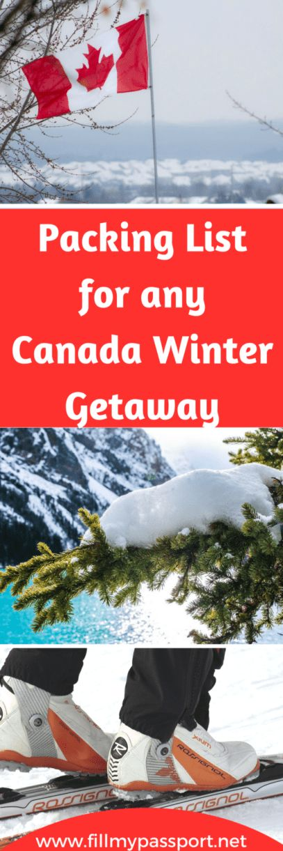Check out our packing list for a Canadian winter holiday! Find everything from essential clothing, tech items. sports equipment, and some health boosters. #packinglist #canadianwinter #canadatravel