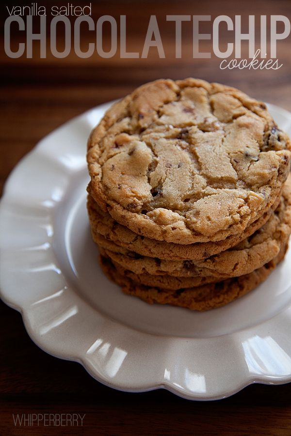 Vanilla Salted Chocolate Chip Cookies // The may be the most perfect