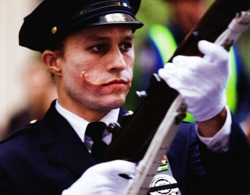 Heath Ledger in The Dark Knight on We Heart It