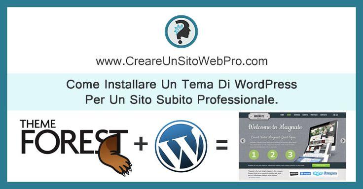 La guida che ti insegna come installare un tema di WordPress per avere un sito con aspetto professionale. Il sito dove scaricare i migliori temi Wordpress.
