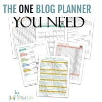 I've used many blog planners, but none of them really did what I wanted them to do. None of them seemed to really help me. That is, until I found this blog planner. This is the one blog planner you need!
