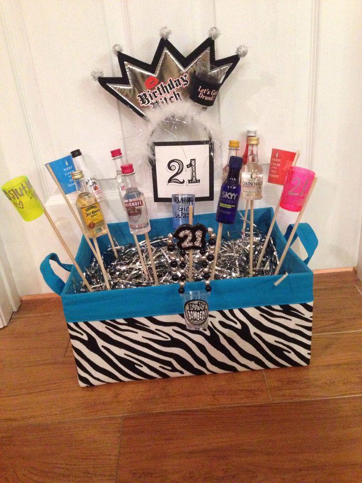 21st Birthday Gift Basket Alcohol : St birthday basket