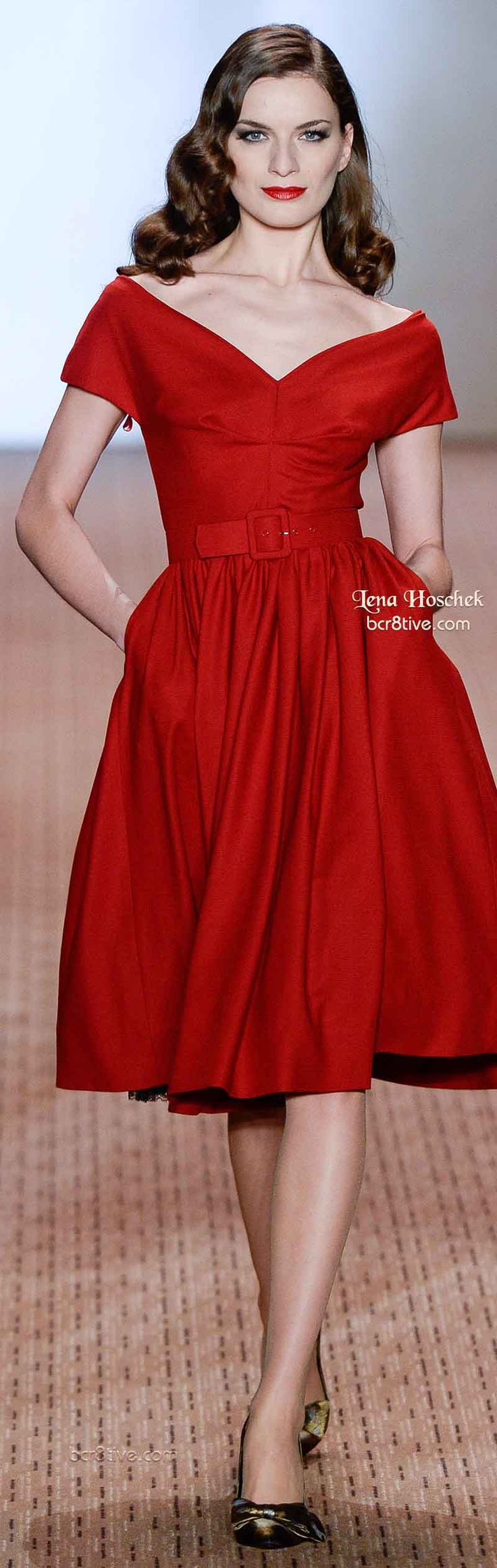 Lena Hoschek Fall 2014...too bad I can't wear red well.