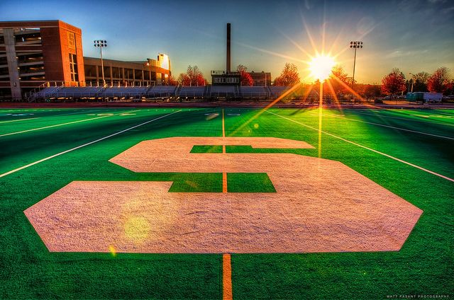 Michigan State University - Sunrise over the S by Matt Pasant, via Flickr