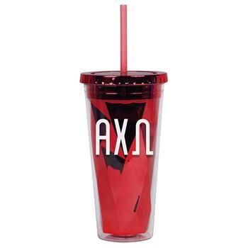 Alpha Chi Omega Sorority Metallic Tumbler - Brothers and Sisters' Greek Store