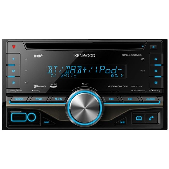 DPX-406DAB Double DIN DAB tuner with Bluetooth and USB/Aux in