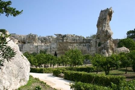 The Latomie, an ancient quarry in the Area Archeologica della Neapolis (map in link)