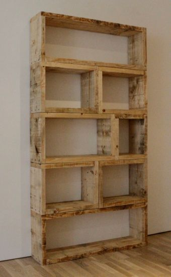 A shelf made of pallets. So, not only is it cool looking, I am recycling.