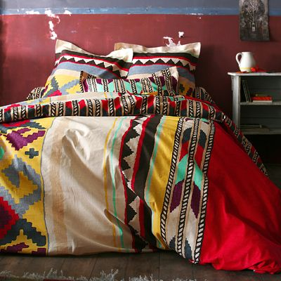 Aztec bedding wild wild west pinterest guest rooms for Housse de duvet