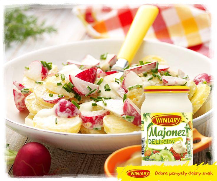 Co powiecie na sałatkę z młodych ziemniaków i rzodkiewek? Zobaczcie przepisy: http://bit.ly/majonezdelikatny