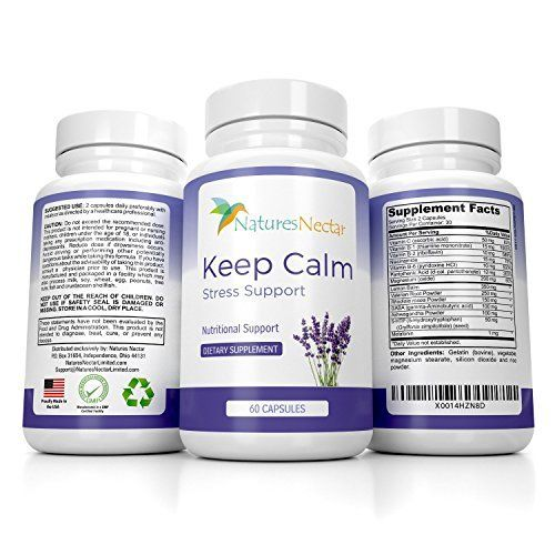 KEEP CALM STRESS SUPPORT: KEEP CALM STRESS SUPPORT by Natures Nectar is your ultimate solution to accumulated stress, anxiety, and fatigue. This scientifically tested, safe, and effective formula gently relieves your stress, relaxes you, and restores energy and a healthy, balanced mood.  Each... more details at http://supplements.occupationalhealthandsafetyprofessionals.com/herbal-supplements/black-cohosh/product-review-for-keep-calm-natural-stress-and-anxiety-relief-suppleme