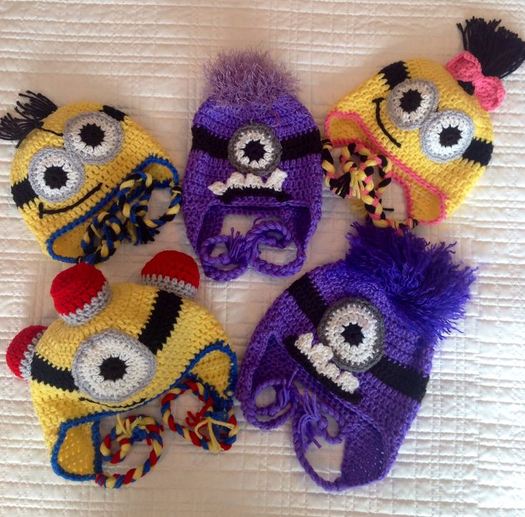 Crochet hats Minions