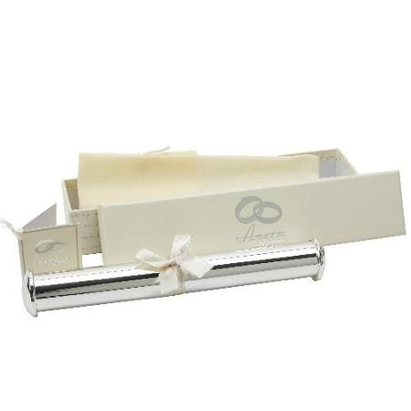 Amore Silver Plated Tube Shape Certificate Holder