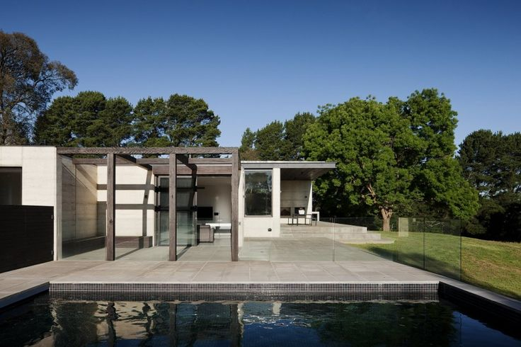 Robson Rak Architects have designed a house on a 10-acre farm located in Merricks North near Melbourne, Australia.