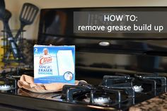 A Real-Life Housewife: Tip #37: Grease Removal from Kitchen Appliances Magic eraser then wipe clean with microfiber cloth
