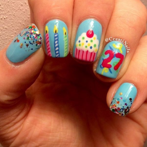 14 Best Images About Birthday Nails On Pinterest
