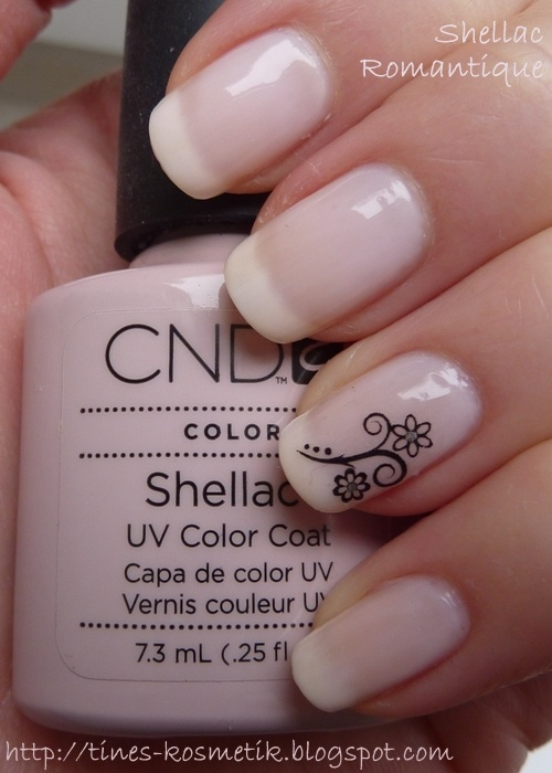 Pink shellac French without the design
