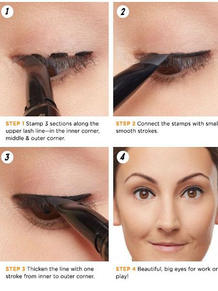 Your visiting card can help you get the perfect cat eyes.