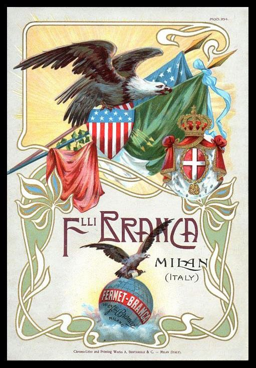 "Fernet-Branca | Sheaff : ephemera - ""Trade card for a liquor with claimed medical benefits, Art Nouveau, distributed at the St. Louis World's Fair in 1904  (not in RDS collection)."""