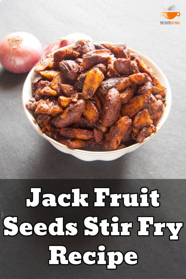 Jackfruit seeds stir fry recipe Recipe at: http://thetastesofindia.com/jackfruit-seeds-stir-fry-recipe/ #jackfruit #seeds #jackfruitseeds #sidedish #thetastesofindia #indianrecipes