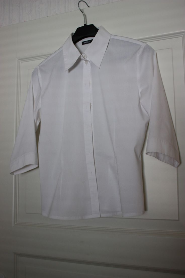 Shirt white 3/4 sleeves
