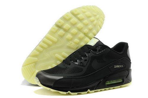 half off 13b65 60cb6 Nike Air Max 90 Prem Tape Unisex All Black Running Shoes Poland