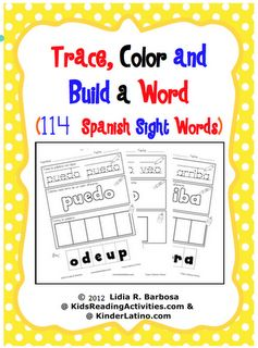 Kinder Latino: Bilingual Teaching Resources: Spanish Sight Words freebie