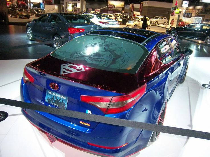 Superman Car Accessories: The Superman-themed Optima Hybrid Is The Sixth Of Eight