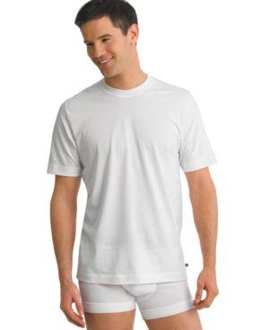 jockey men's tagless underwear, stay cool crew neck 2 Undershirts pack - White XL