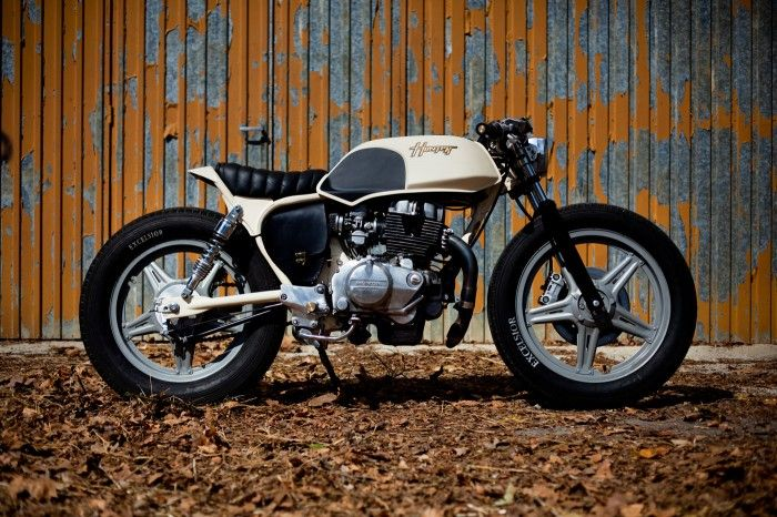 """Old Empire Motorcycles """"Hunter"""" - Just when you think you know who they are Old Empire Motorcycles rock up at the Bike Shed October Event and lo & behold they've re-defined themselves. Again. …Still in the mold of quirky British renaissance engineering, but not just creating the old school Enfield bobbers they've become known for, instead they wheeled-out a couple of unique-looking lightweight bruisers, including this genre-busting Honda CB250 Superdream, AKA, The Hunter. ..."""